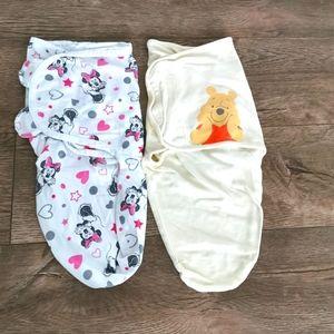 2/$25 Disney NB sleep sacks/ swaddles